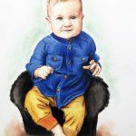 portret ze zdjęcia kolorowy